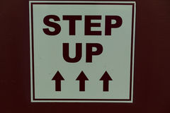 Step Up Sign Stock Photo