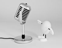 Step up to the mic Royalty Free Stock Photos