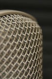 Step up to the mic. Close-up of a microphone stock images