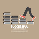 Step Up Walking On Books Successful Concept Royalty Free Stock Image