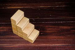 Step up from wooden block Royalty Free Stock Photos