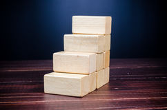 Step up from wooden block Stock Image