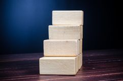 Step up from wooden block Royalty Free Stock Photography