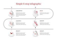 6-Step vecteur Infographic illustration libre de droits