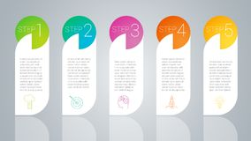 Step by step vector template stock illustration