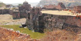 The step well lake inside Ranthambhore Fort Royalty Free Stock Photos