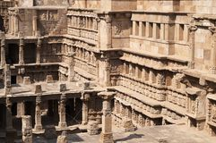 Step Well at Patan stock photography