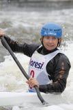 Stepanka Hilgertova in water slalom world cup race Stock Photo