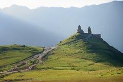 Stepansminda monastery Royalty Free Stock Images