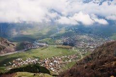 Stepantsminda village, Georgia Stock Photo