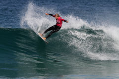 Steph Gilmore. World surfing circuit in Portugal Stock Photo