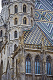 Stephan Catedral in Vienna. Architecture of Stephan Catedral in Vienna Stock Images