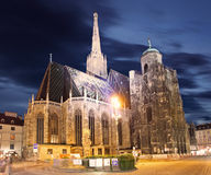 Stephan cathedral in Vienna at twilight. Austria Stock Photo