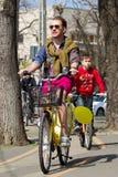 Stephan Pelger on the bike Stock Photography