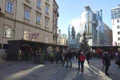 Stephan Platz Christmas Market Lizenzfreies Stockfoto