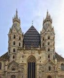 Stephandome står högt Wien Arkivbild