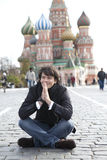 Stephane Lambiel. Moscow - OCTOBER 18: Professional skater Stephane Lambiel from Switzerland Moscow  October 18, 2010. Moscow. Russia Royalty Free Stock Photography