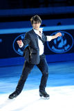 Stephane Lambiel bei goldenem Preis des Rochen-2011 Stockbild
