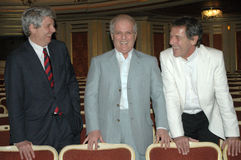 Stephane Lissner, Daniel Barenboim, Peter Mussbach Royalty Free Stock Photography