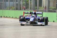 Stephane Richelmi участвуя в гонке в Сингапур GP2 2012 Стоковое фото RF