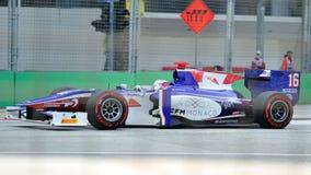 Stephane Richelmi racing in Singapore GP2 2012 Royalty Free Stock Photos