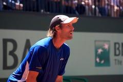 Stephane Robert entgegengesetzt Berdych Roland Garros Lizenzfreie Stockfotos