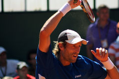 Stephane Robert opposed to Berdych Roland Garros Royalty Free Stock Photo