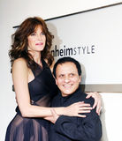 Stephanie Seymour and Azzedine Alaia Stock Photography