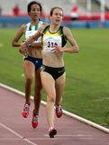 Stephanie Twell of Greart Britain. In action during 1500m Event of Barcelona Athletics meeting at the Olympic Stadium on July 18, 2007 in Barcelona, Spain Stock Photography