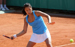 Stephanie VONGSOUTHI (FRA) at Roland Garros 2010 Stock Photography