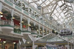 Stephans gröna shoppinggalleria i Dublin Ireland Royaltyfri Bild