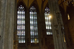 Stephansdom cathedral interior in Vienna, Austria Stock Images