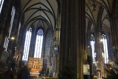 Stephansdom cathedral interior in Vienna Stock Photography
