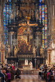 Stephansdom Cathedral. Mass in Stephansdom Cathedral in Vienna, Austria Stock Images