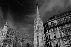 Stephansdom cathedral on stephansplatz in Vienna Austria; Royalty Free Stock Photos