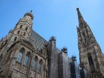 Stephansdom Church Landmark in Vienna Austria with Blue Sky Royalty Free Stock Photos