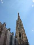 Stephansdom Church Landmark in Vienna Austria with Blue Sky Royalty Free Stock Images