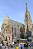 Stephansdom en Wienna Imagenes de archivo