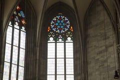 Stephansdom färbte Fenster Lizenzfreies Stockfoto