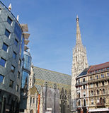 Stephansdom and Haas Haus Stock Image