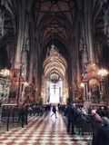 Stephansdom inre royaltyfri foto