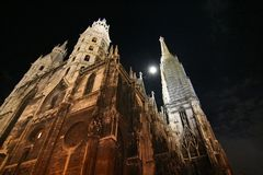 Stephansdom at night Stock Images