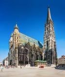 Stephansdom (St Stephen Kathedrale) in Wien, Österreich lizenzfreie stockfotos