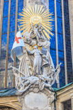 Stephansdom Vienna detail. The statue of giovanni da capistrano in front of St. Stephens cathedral in vienna/ austria Royalty Free Stock Photos