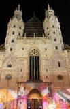 Stephansdom in Vienna by night Royalty Free Stock Image
