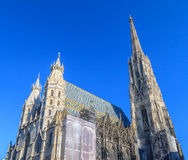Stephansdom Vienna. The St. Stephens cathedral in vienna/ austria Royalty Free Stock Photos