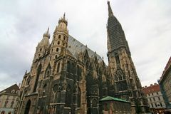 Stephansdom Wide-Angle Stock Images