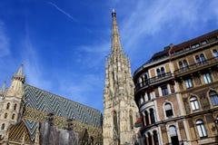 Stephansdomkathedraal op stephansplatz in Wenen Oostenrijk; Stock Afbeeldingen