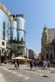 Stephansplatz广场在维也纳 库存图片