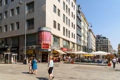 Stephansplatz广场在维也纳 免版税库存图片